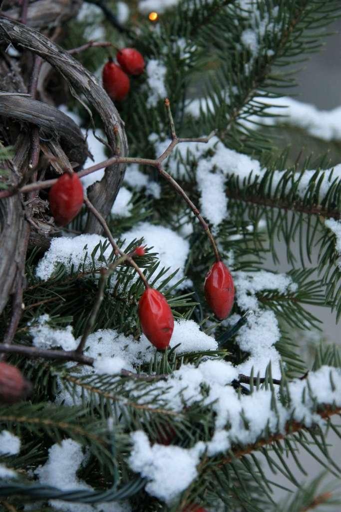 Wayome upcycling joyeux noel 2016 couronne rouge