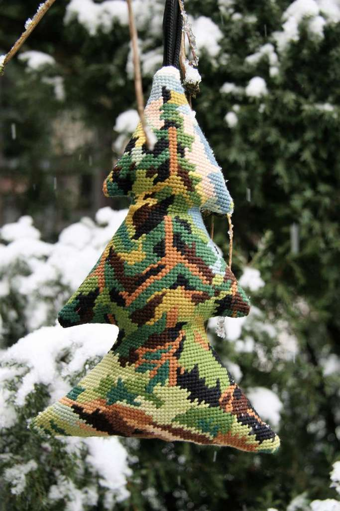 wayome upcycling un sapin en canevas arbre