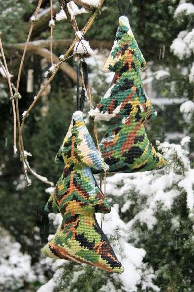 wayome upcycling un sapin en canevas duo arbre