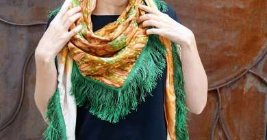 Wayome upcycling le foulard en soie vert jardin image une