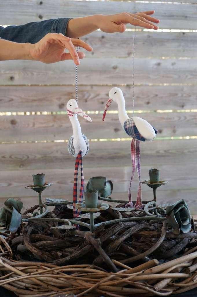 Wayome upcycling des cigognes qui se balancent nid