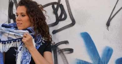 Wayome upcycling Foulard et tags bleus image une