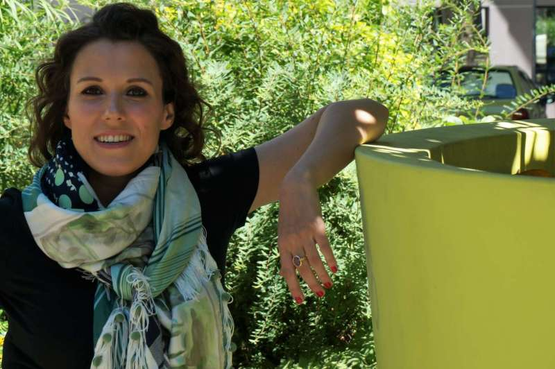 Wayome upcycling Le foulard caméléon pot de fleur