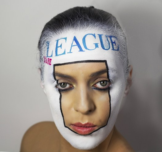 sporting art on face