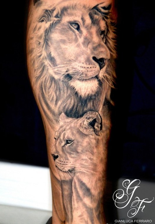 Lion-tattoo-on-arm-shoulder