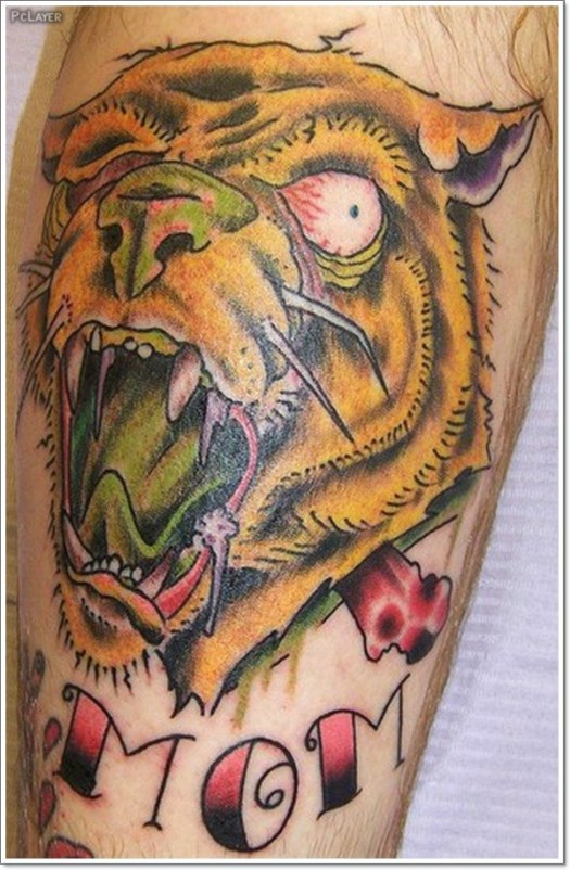 coroful Lion Tattoo