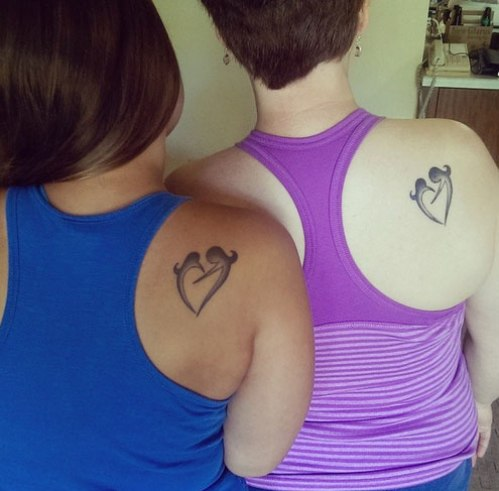 mother daughter tattoos 5