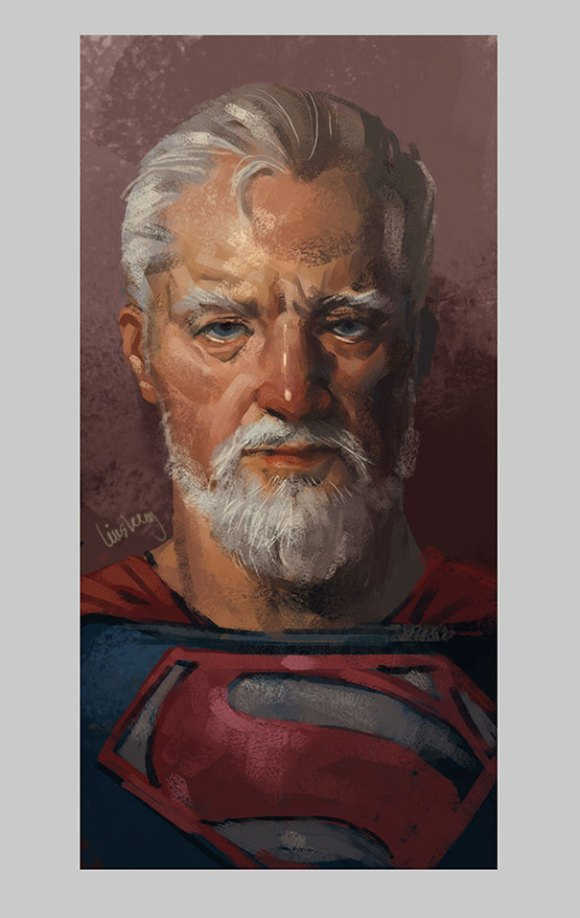 old-superhero-paintings 3