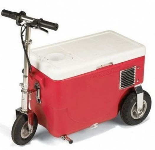 A scooter ice cooler?