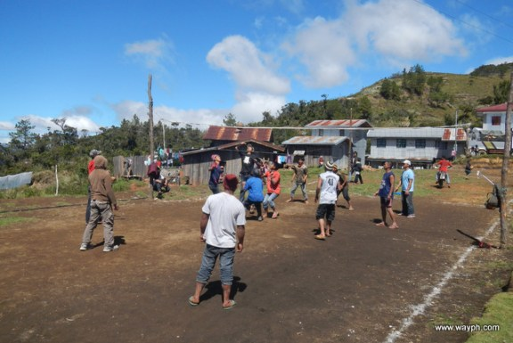 Locals Playing Volleyball