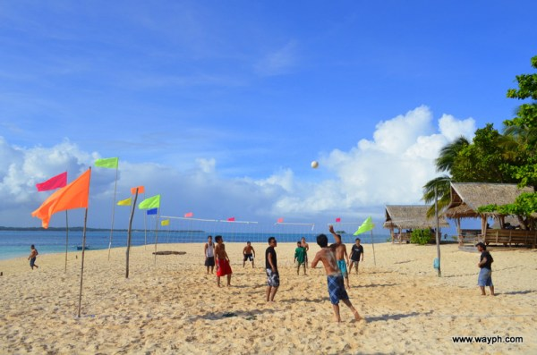 Locals playing volleyball in dako Island