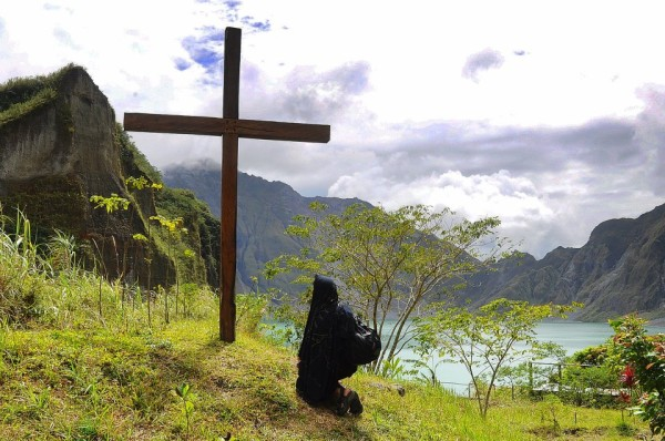 Mt Pinatubo cross