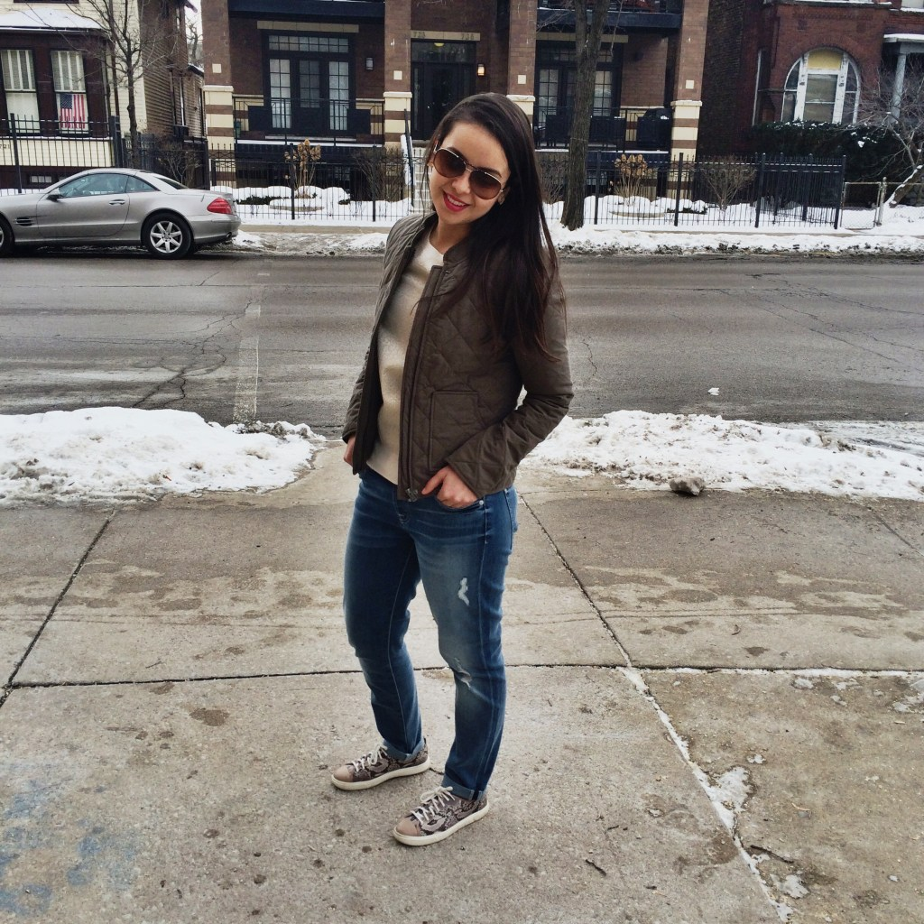 What to wear in the Winter - Easy go to winter outfit wearing all kinds of neutrals and jeans