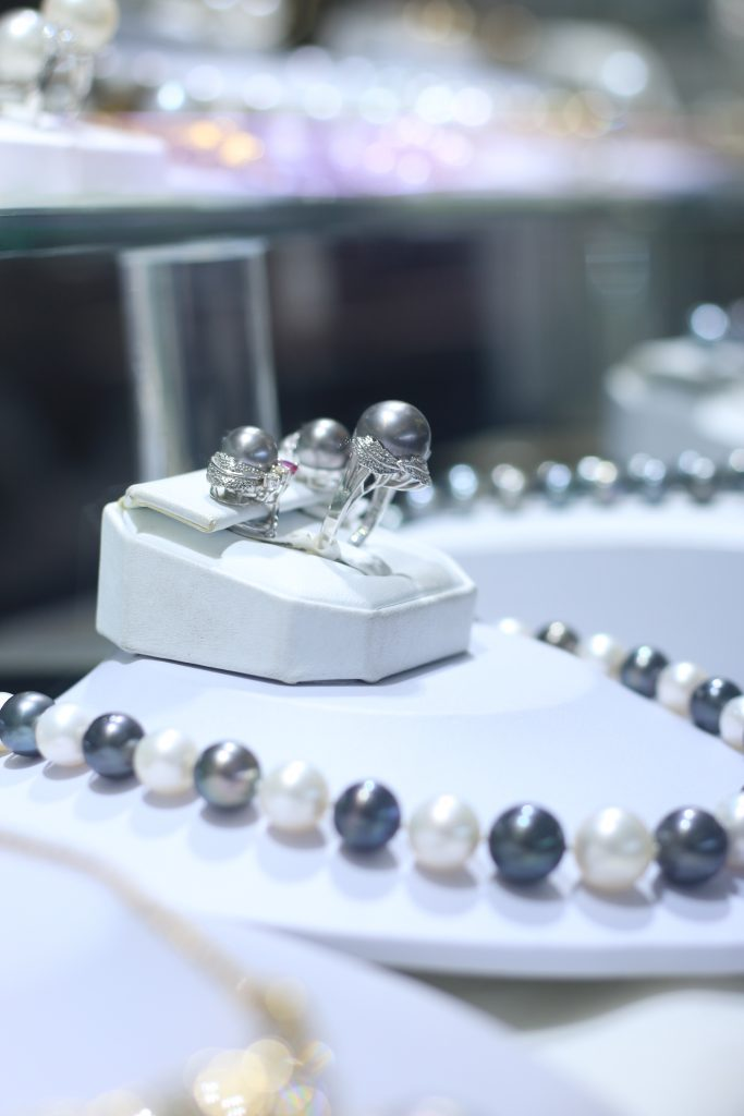 More beautiful pearl necklaces and earrings at Golden Crown Jewelers