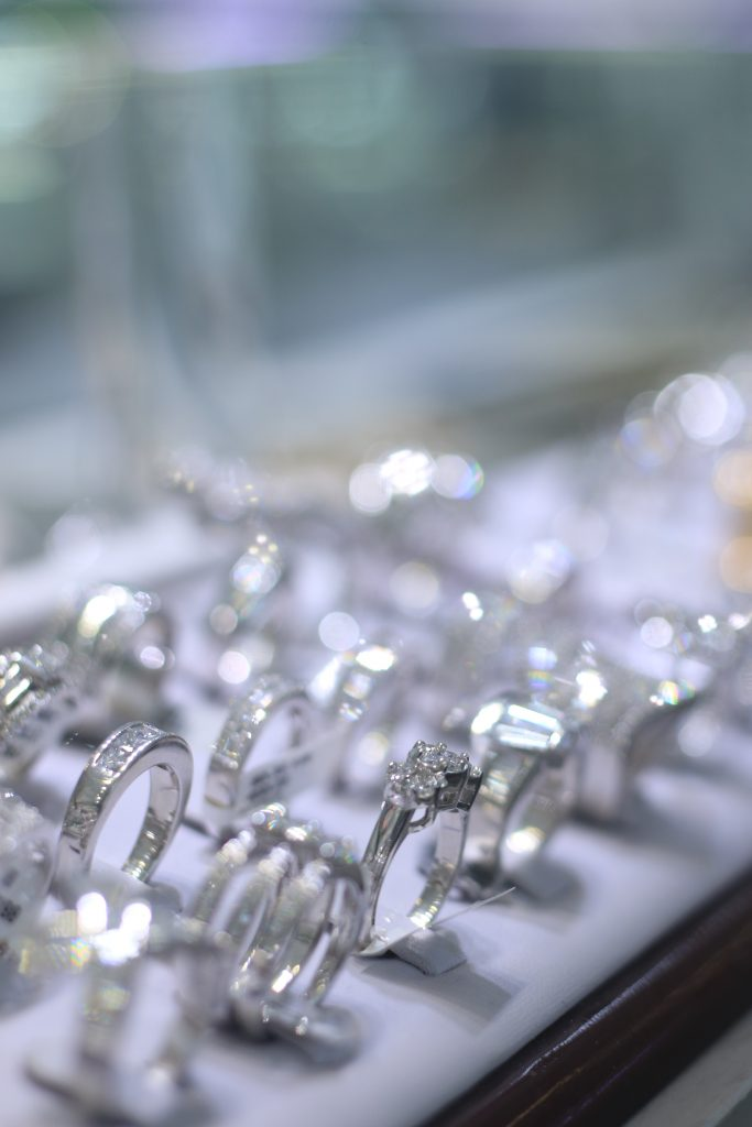 Diamond and engagement rings  at Golden Crown Jewelers