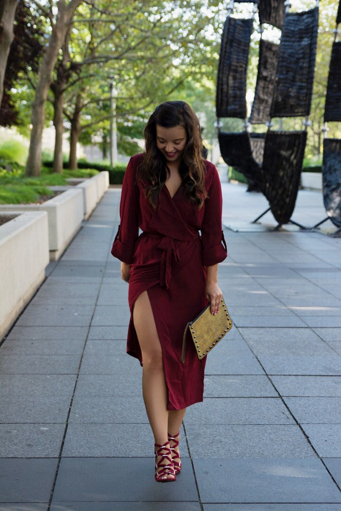 My version of monochromatic outfits with an head to toe burgundy look