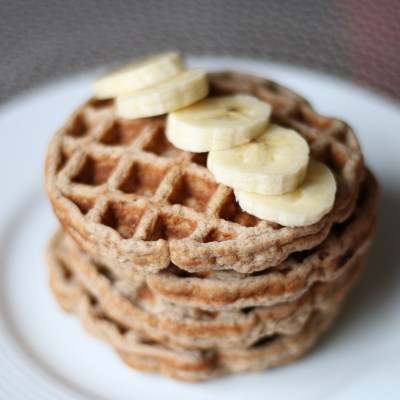 Healthy Banana – Oatmeal Waffles