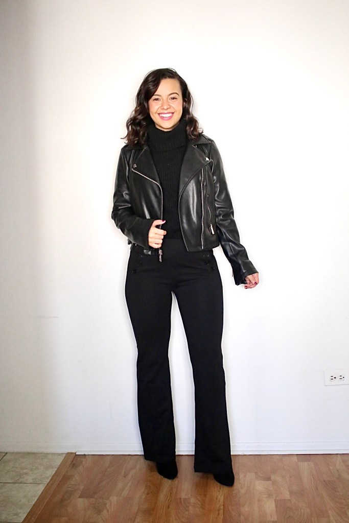 My version of monochromatic outfits with an head to toe black look