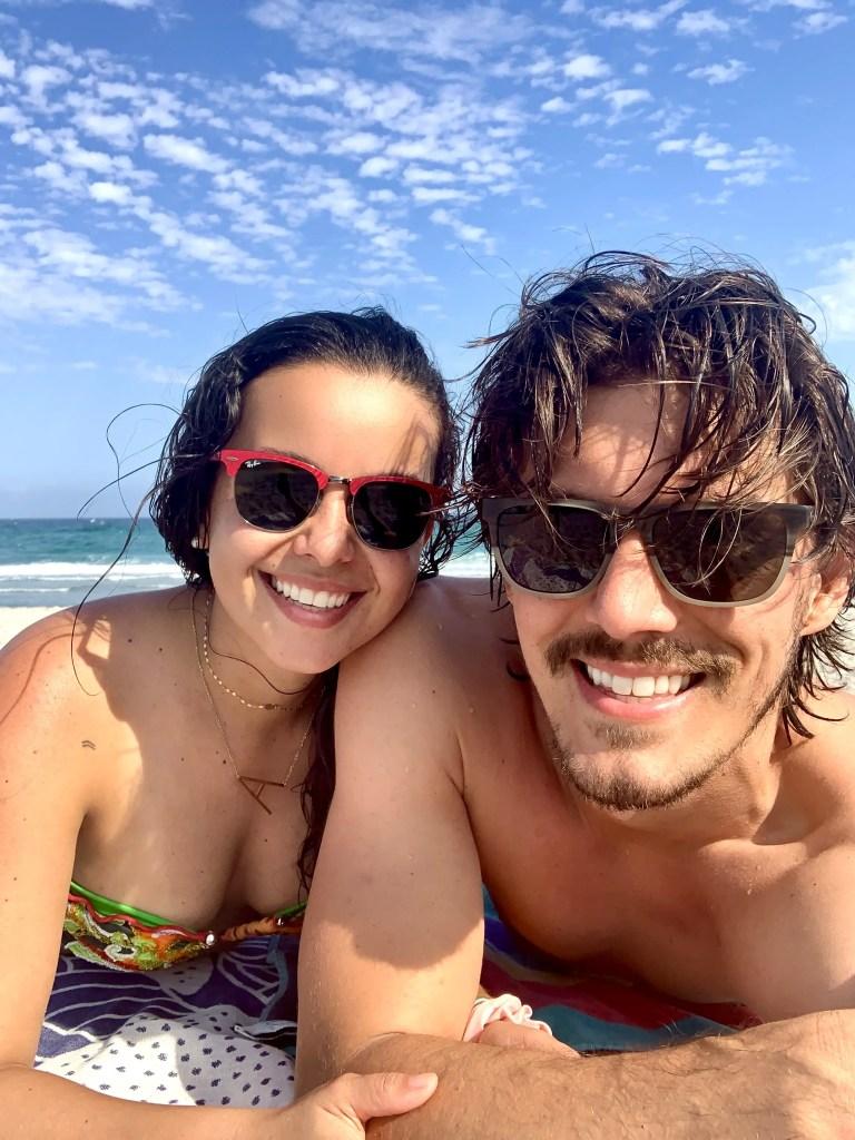 At the beach in Boca Raton again. Enjoying the digital nomad life