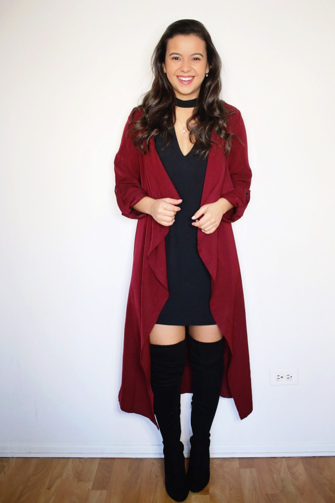 How to Style a Black Dress for Fall with OTK boots