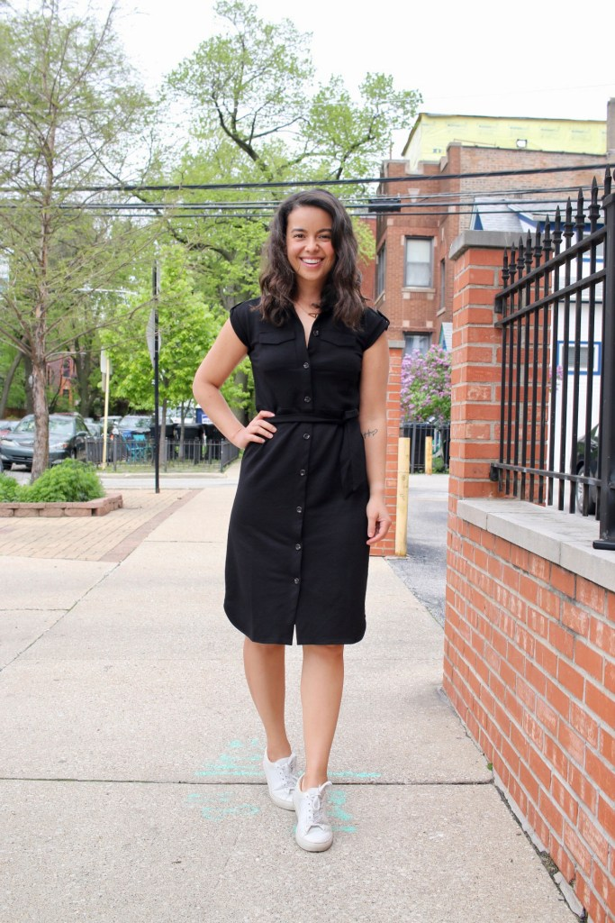 How to Style a Black Dress in a casual way for summer