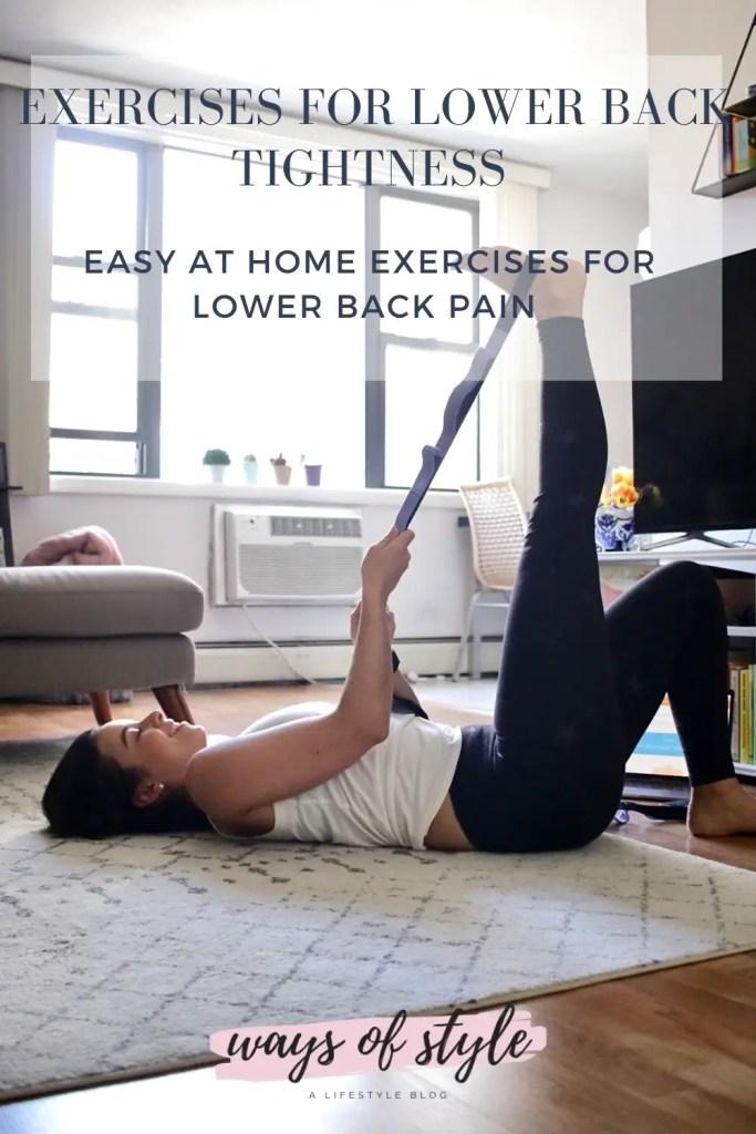 Easy at home exercises for lower back tightness
