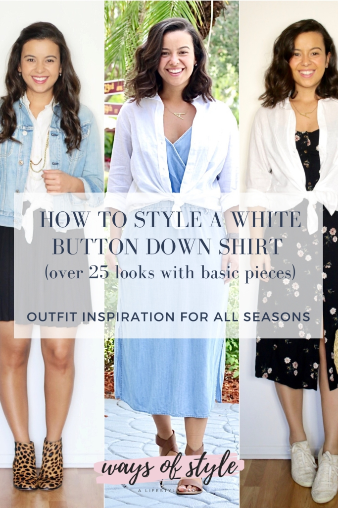How to style a button down shirt Pinterest Pin
