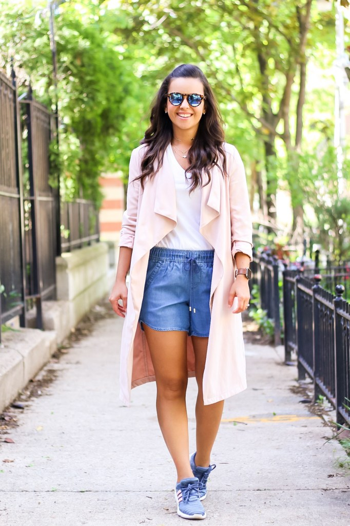 White tshirt with denim casual Summer look