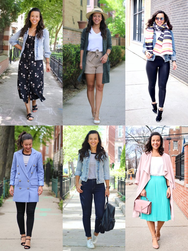 Spring outfit ideas with basic pieces