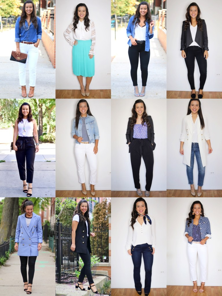 12 Summer office outfits - office capsule wardrobe