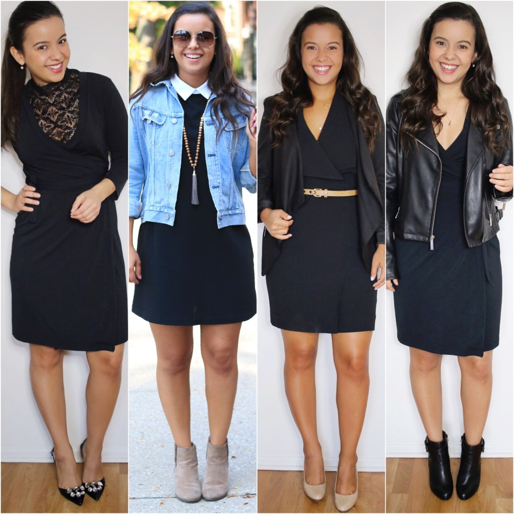 4 looks with a little black dress