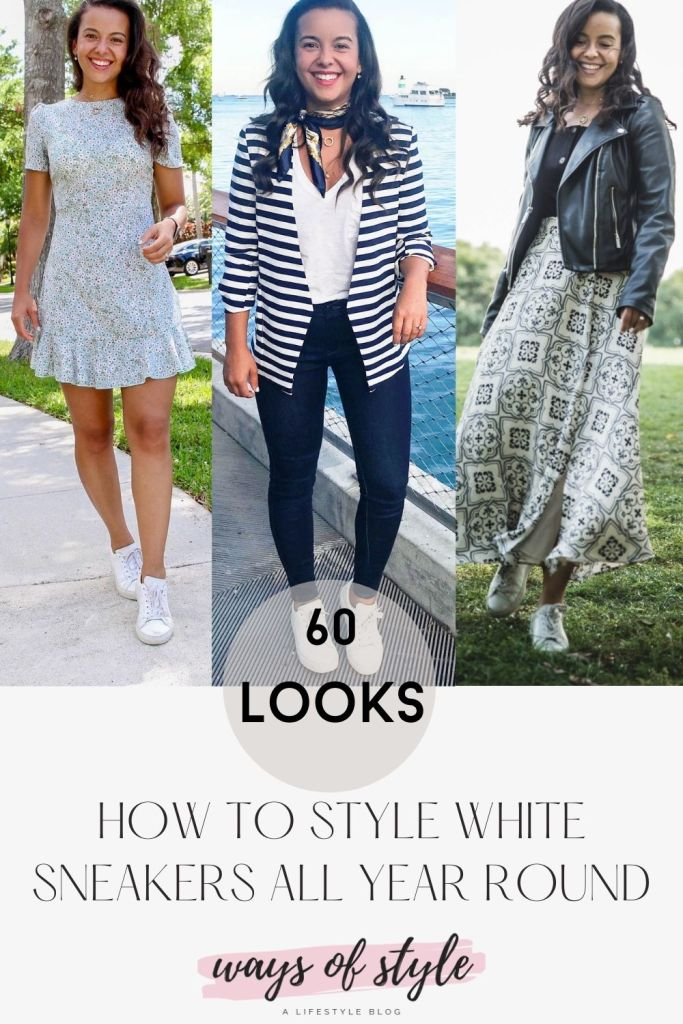 How to wear white sneakers all year round