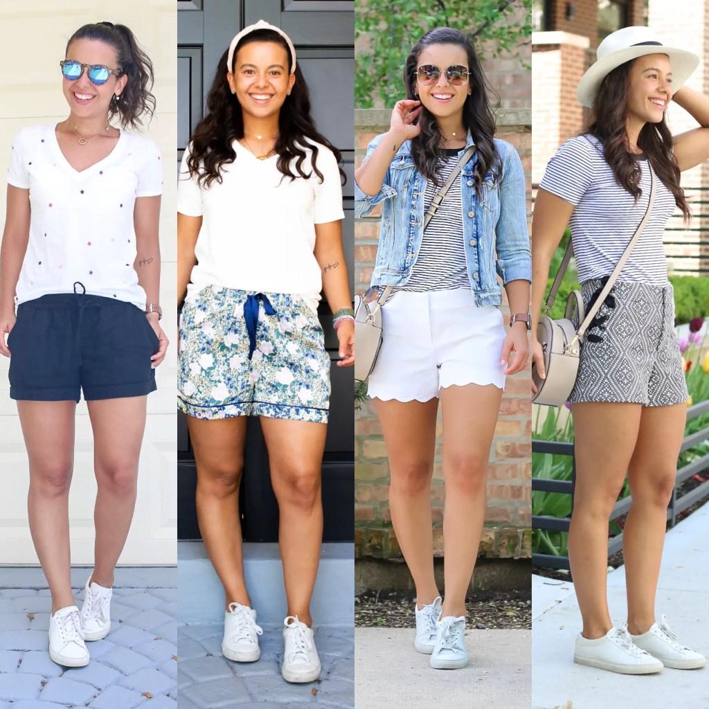 White sneakers Summer looks