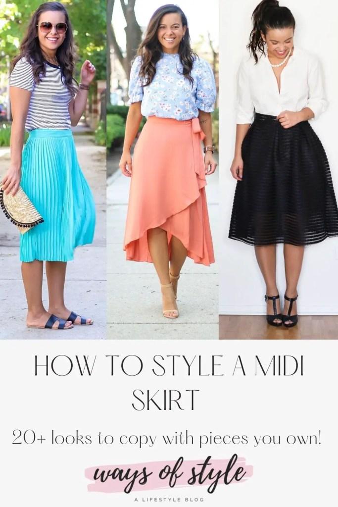 midi skirt outfits pinterest pin