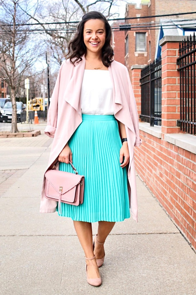 Midi skirt outfits for spring and summer