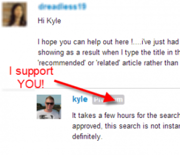 Image showing a member receiving support from Kyle, WA co-founder