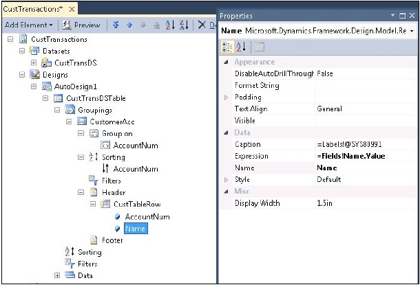 Developing a Simple SSRS Report in Visual Studio (6/6)