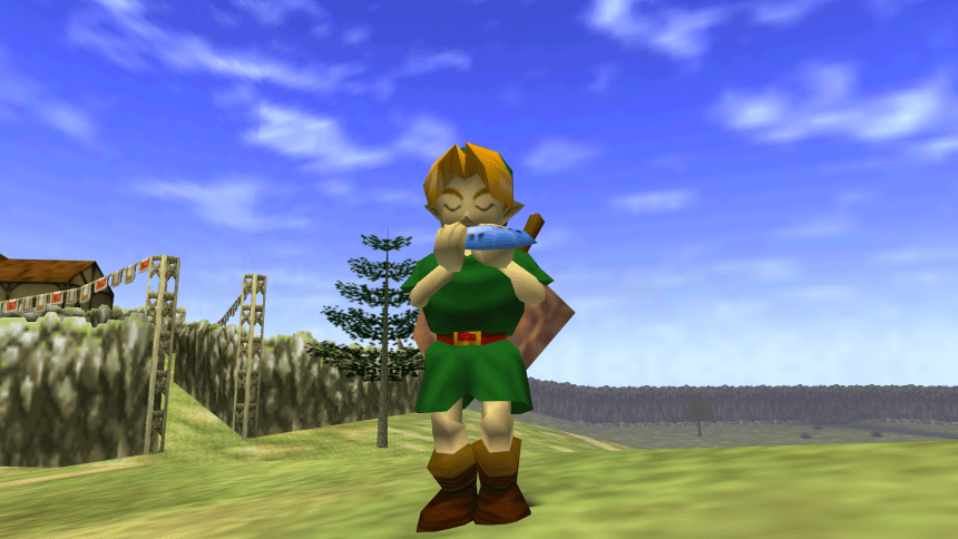 Playing Ocarina