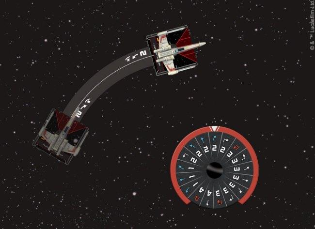 Board Game Mechanics Measured Movement in Star Wars X-Wing