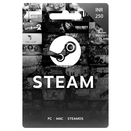 250 INR Steam Wallet Code | Buy 250 INR Steam Wallet Code