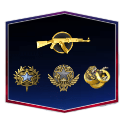 Steam Level 3 | 142 Wins & 1400 Hours | 2020, 2021 Service Medal | Broken Fang Diamond Coin