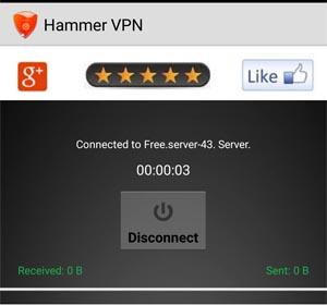 Hammer VPN Unlimted Trick
