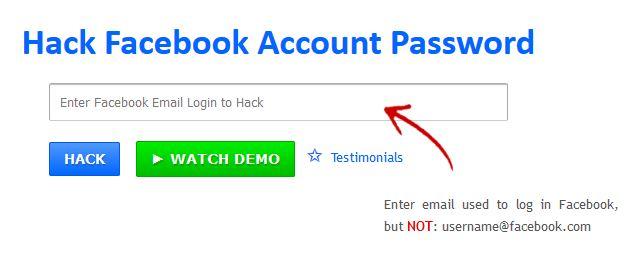 Hack Facebook Account Password