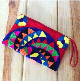 fuzzy clutch wayuu bags