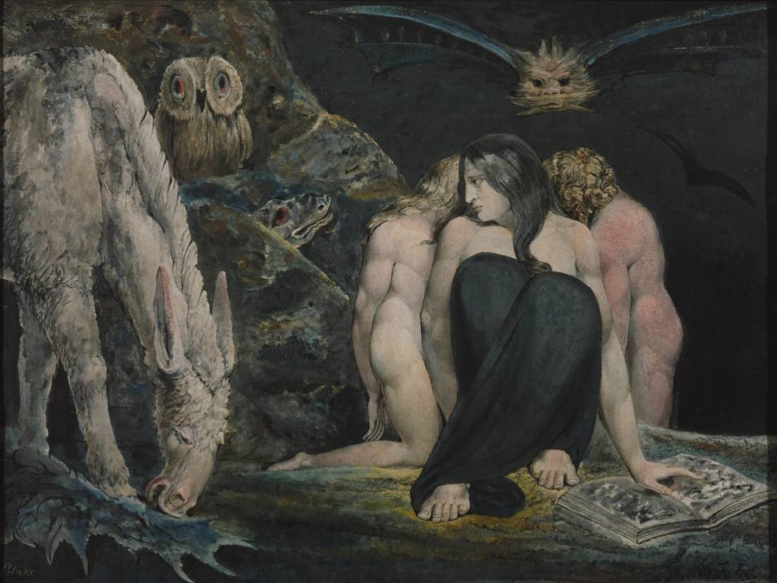 The Night of Enitharmon's Joy (formerly called 'Hecate') circa 1795 by William Blake 1757-1827