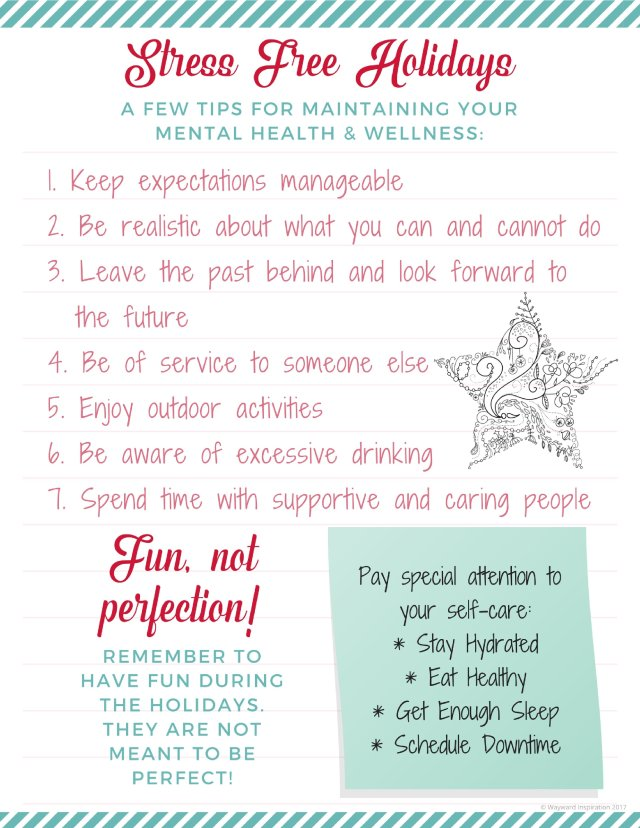 Tips for maintaining your mental health and wellness through the holiday season   Wayward Inspiration blog