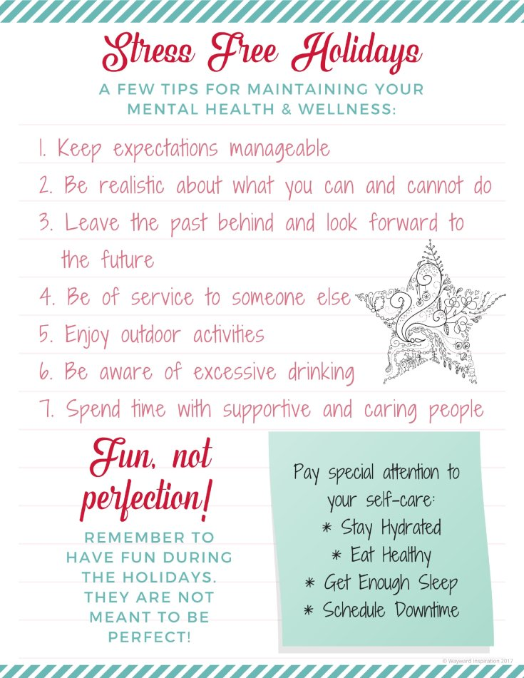 Tips for maintaining your mental health and wellness through the holiday season | Wayward Inspiration blog