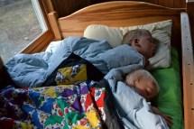 Kids Sleeping in Living Room