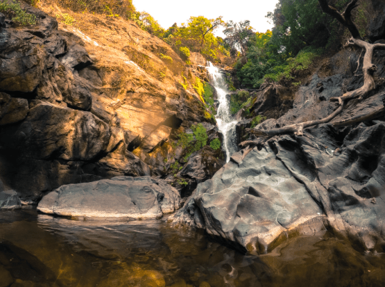 vibhuti waterfall near gokarna in karnataka