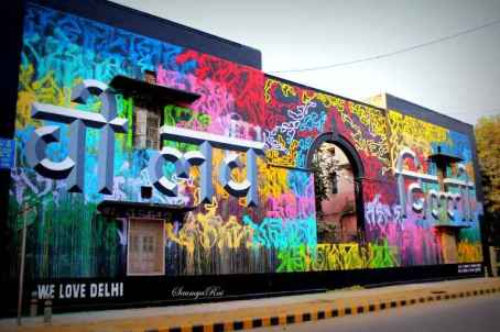 street art lodhi art district delhi